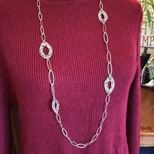 """Silpada 40"""" Sterling Silver Link Necklace"""